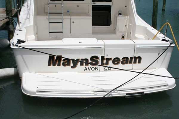 Boat Signs in and near Fort Pierce