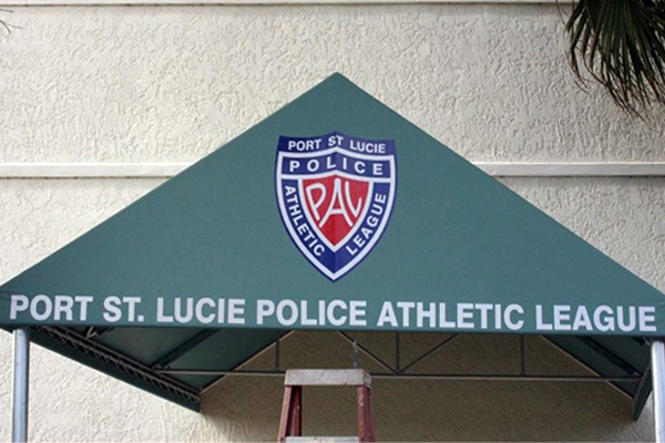 Custom Sign Awnings by Sign Art Plus of Port St Lucie
