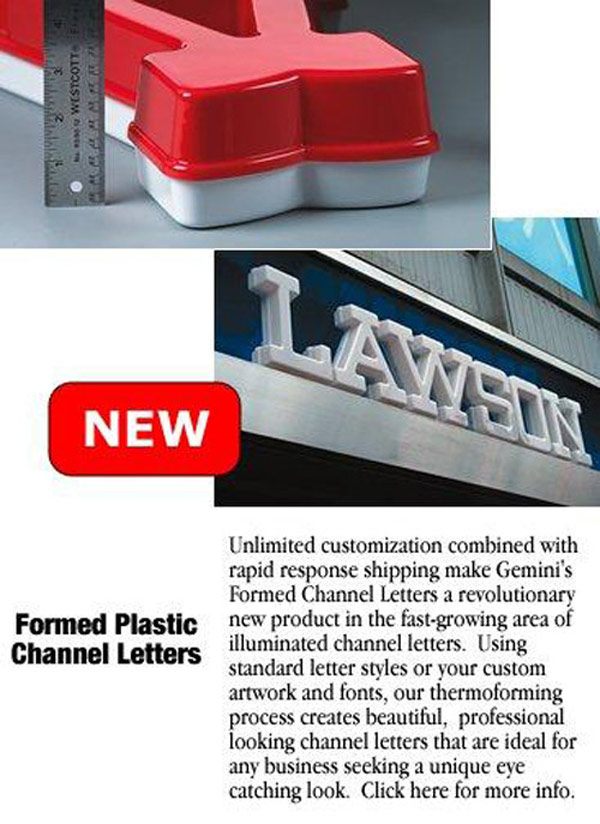Channel Letters are available at Sign Art Plus