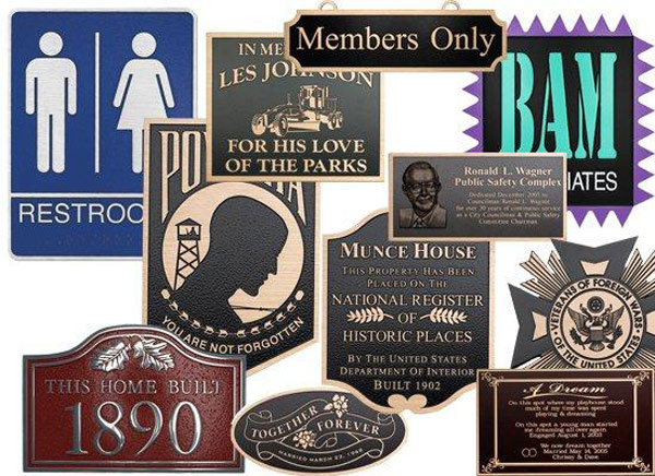 Metal Plaques are available at Sign Art Plus