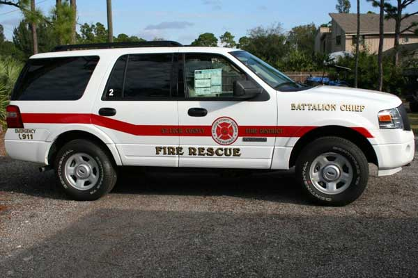 Fire Engine Signs, Graphics and Lettering in Vero Beach Florida