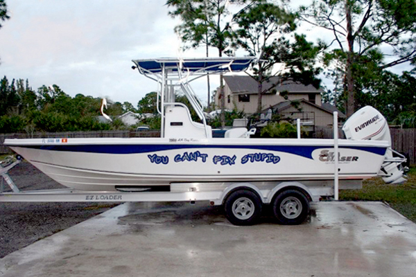 Boat Signs, Graphics and Lettering in Vero Beach Florida