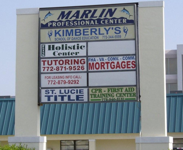Monument Style Wall Signs in Vero Beach Florida